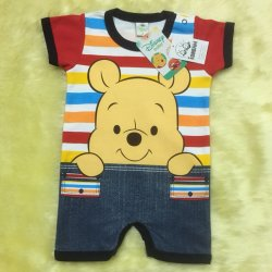 ชุดเด็กชุดเด็กลายหมีพู(Pooh) แบบรอมเปอร์ราคาถูก