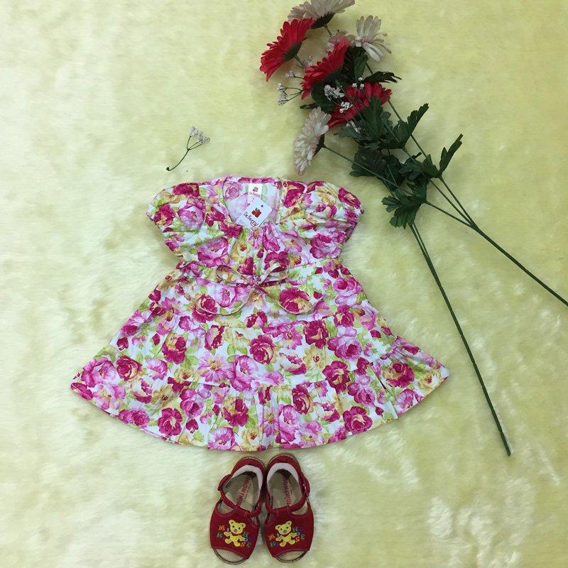 ชุดเดรสเด็กผู้หญิง ลายดอกกุหลาบ สไตล์วินเทจ