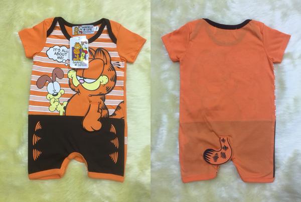 ชุดบอดี้สูทเด็กลายแมวการ์ฟีลด์(Garfield) แบบรอมเปอร์