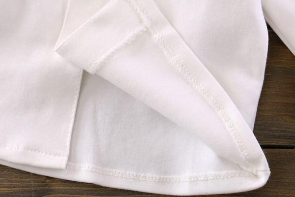 เนื้อผ้า cotton 100% ของเสื้อยืดเด็กคอบัว