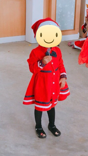 รีวิวชุดเดรสโปโล(POLO) ใส่ออกงาน สีแดง แขนยาว คอปก ติดโบว์
